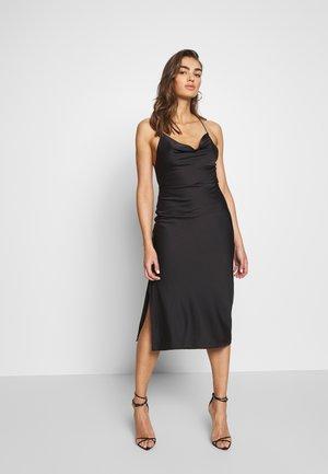 CROSS STRAP DRESS - Denní šaty - black