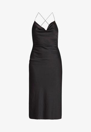 CROSS STRAP DRESS - Vestito estivo - black