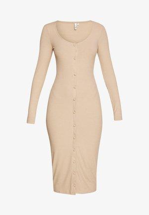 FRONT BUTTON DRESS - Sukienka etui - beige
