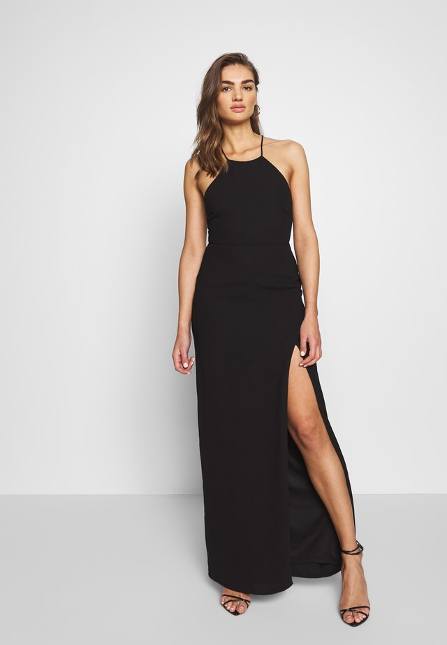 STRAP BACK GOWN - Vestido largo - black