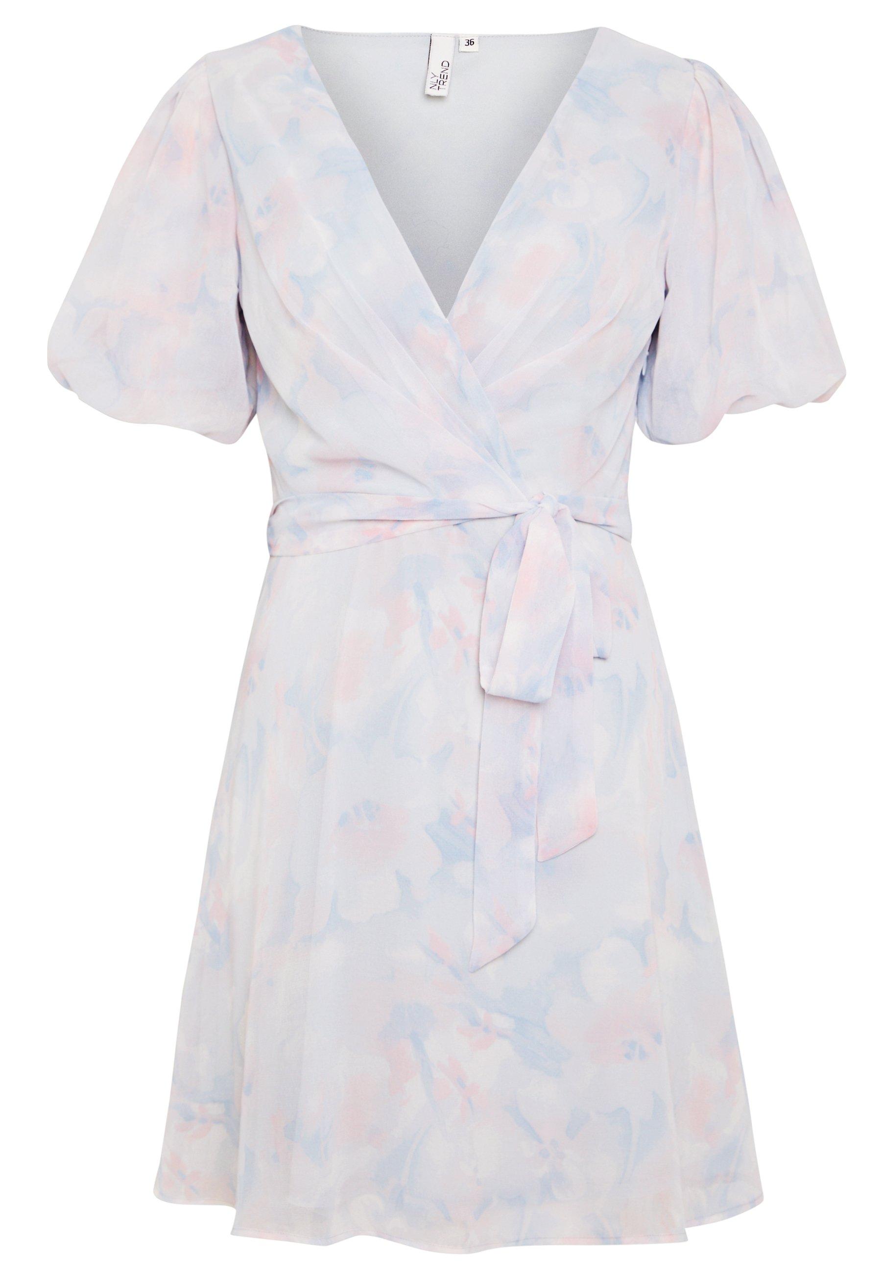 Nly by Nelly PUFF SLEEVE DRESS - Vestito estivo - multicoloured 6wHglff8