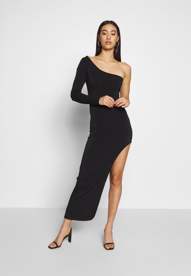 ONE SHOULDER SLIT DRESS - Abito da sera - black