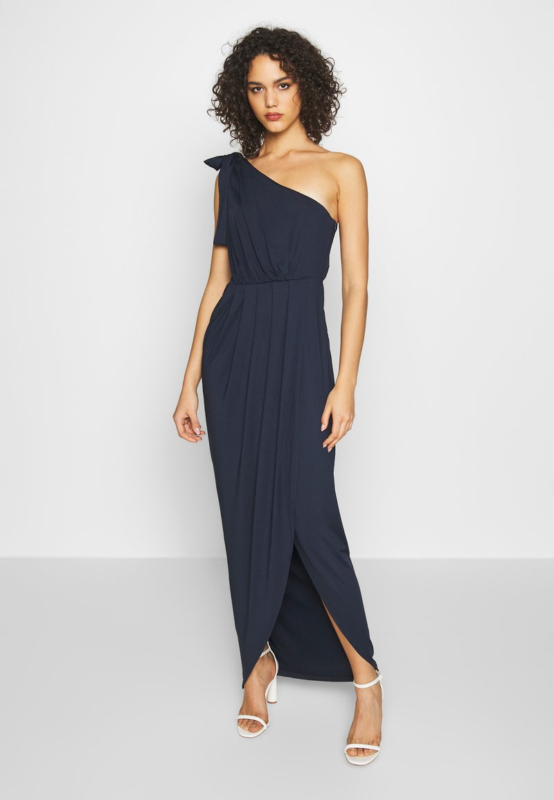 Nly by Nelly - ONE SHOULDER GOWN - Iltapuku - navy
