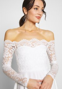 Nly by Nelly - LACE OFF SHOULDER SKATER - Juhlamekko - white - 3