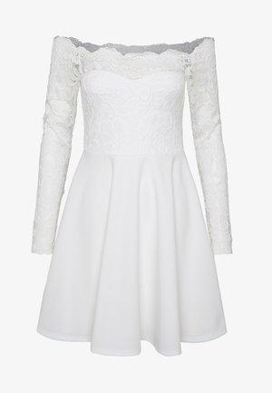 LACE OFF SHOULDER SKATER - Cocktail dress / Party dress - white
