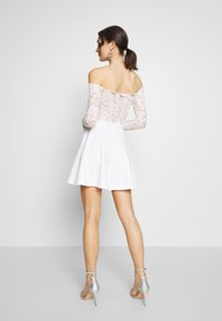 Nly by Nelly - LACE OFF SHOULDER SKATER - Juhlamekko - white - 2