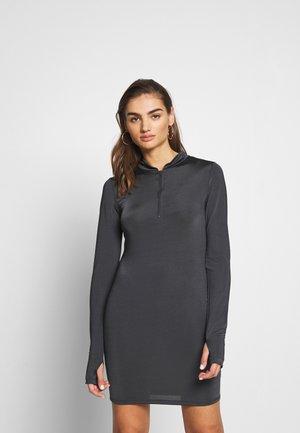BIKER DRESS - Jersey dress - grey