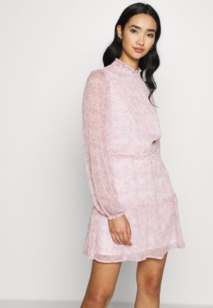 VOLUME SLEEVE FRILL DRESS - Robe d'été - pink