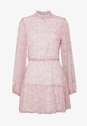 VOLUME SLEEVE FRILL DRESS - Day dress - pink