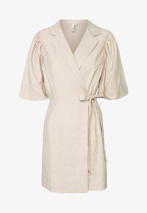 CUTE PUFF MINI DRESS - Day dress - beige