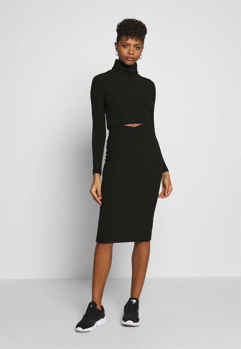 Nly by Nelly - SKIRT SET - Jumper - black