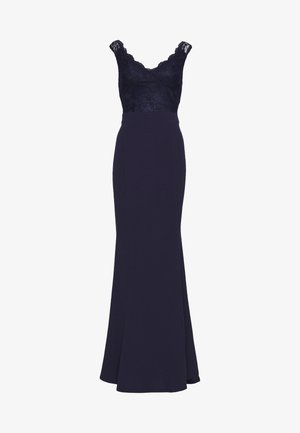 WRAP LACE MERMAID GOWN - Galajurk - navy