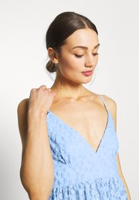 Nly by Nelly - EMBROIDERED STRAP DRESS - Juhlamekko - blue - 4