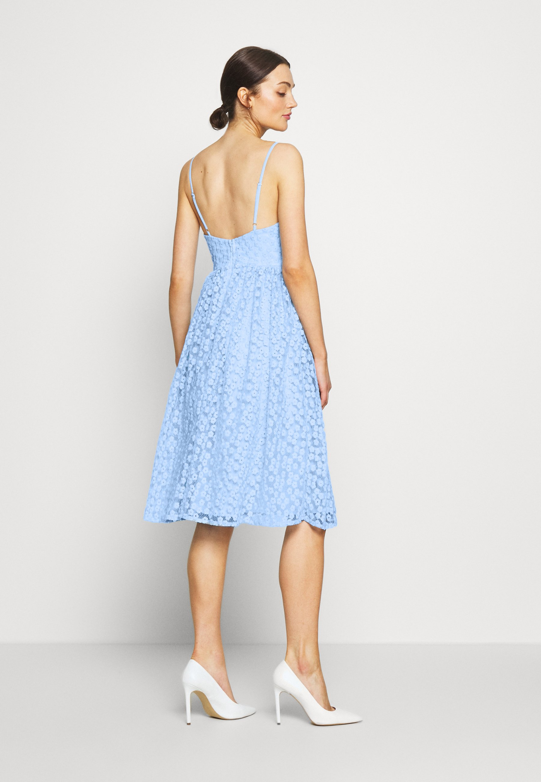 Nly By Nelly Embroidered Strap Dress - Cocktailklänning Blue
