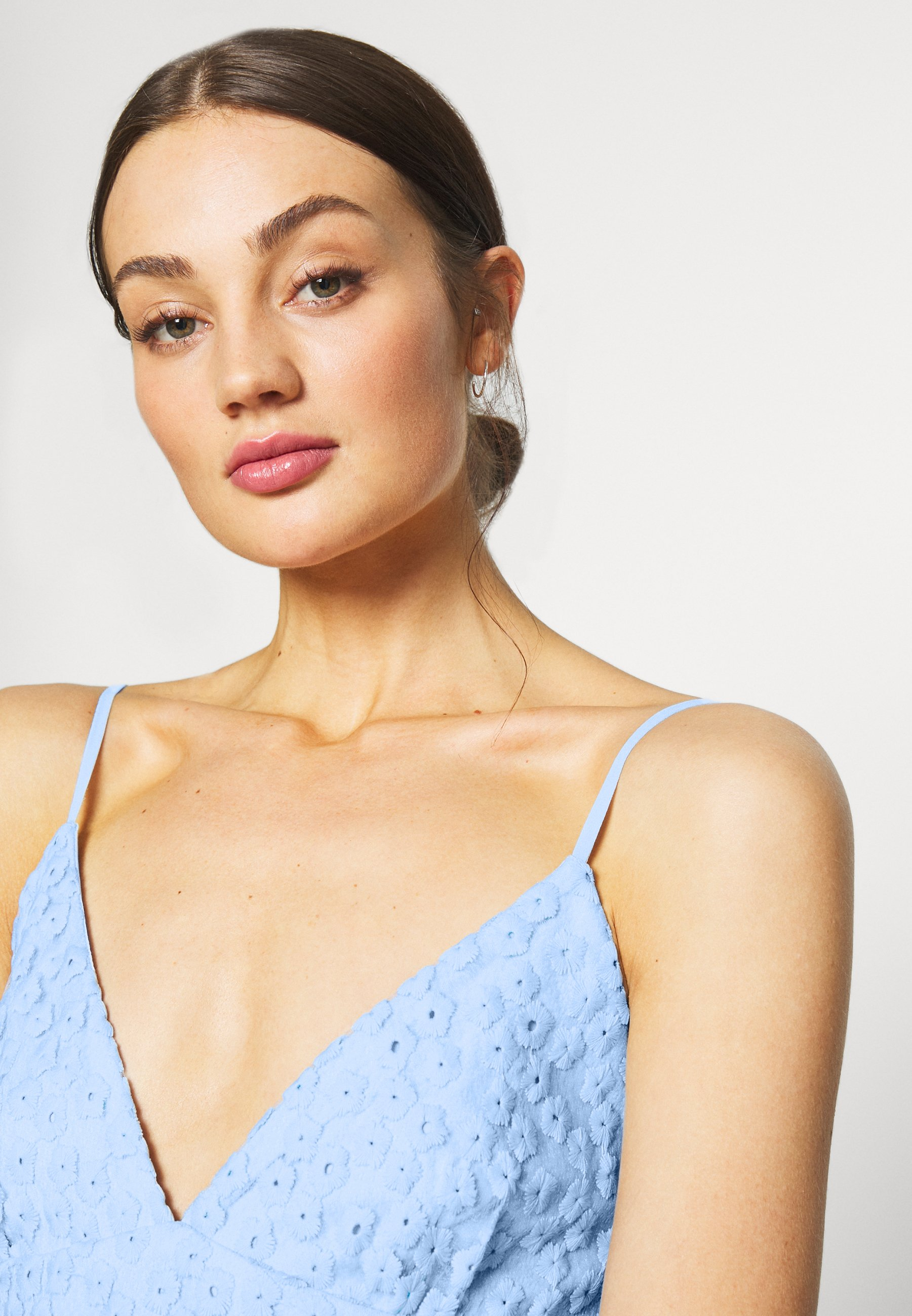 Nly By Nelly Embroidered Strap Dress - Cocktailjurk Blue