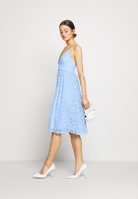 Nly by Nelly - EMBROIDERED STRAP DRESS - Juhlamekko - blue - 2