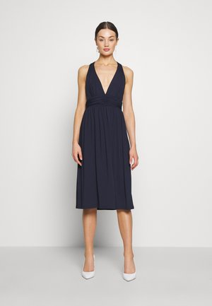 CROSS BACK DRAPY DRESS - Day dress - navy