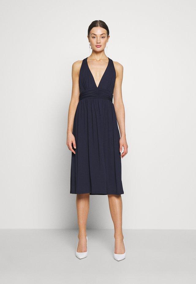 CROSS BACK DRAPY DRESS - Denní šaty - navy