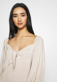 Nly by Nelly - OFF SHOULDER DRESS - Day dress - beige - 3