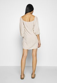 Nly by Nelly - OFF SHOULDER DRESS - Day dress - beige - 2