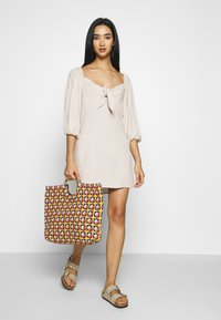 Nly by Nelly - OFF SHOULDER DRESS - Day dress - beige - 1