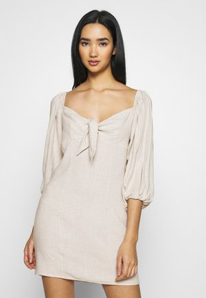 OFF SHOULDER DRESS - Denní šaty - beige