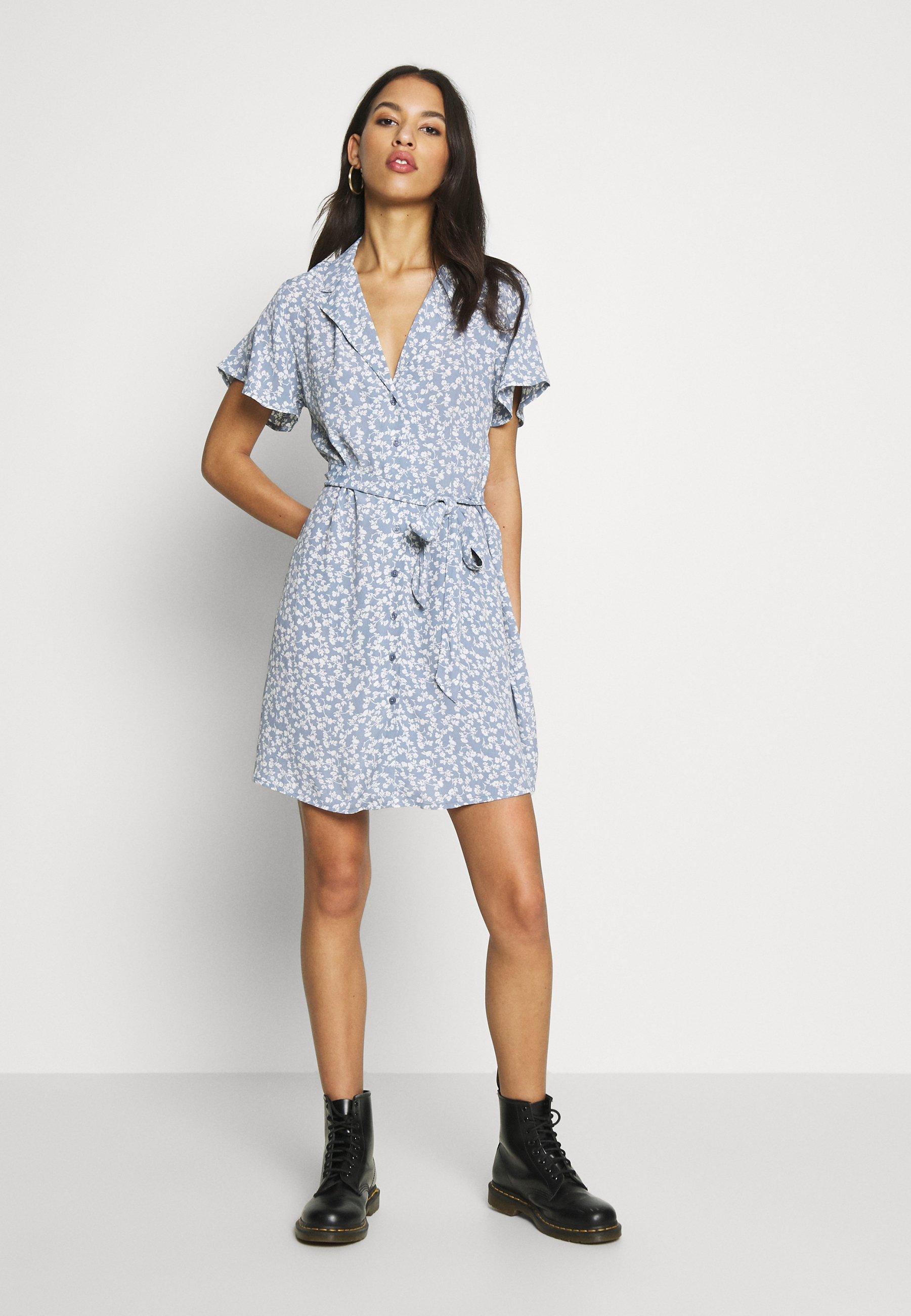 Nly by Nelly EVERYDAY DRESS - Sukienka koszulowa - light blue