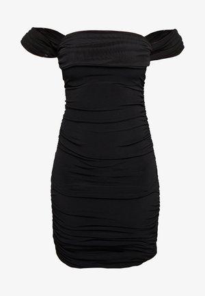 OFF SHOULDER DRESS - Shift dress - black