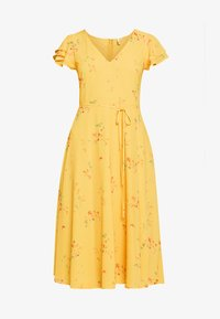 Nly by Nelly - DOUBLE FLOUNCE MIDI DRESS - Iltapuku - yellow - 3