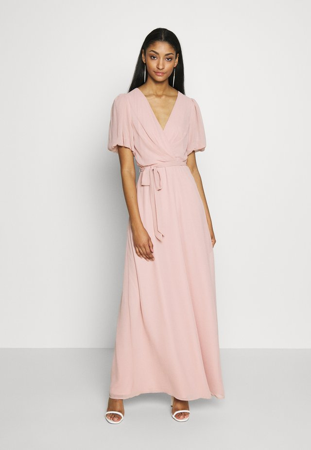PUFF SLEEVE GOWN - Occasion wear - dusty pink