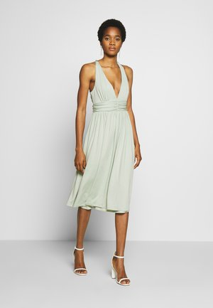 CROSS BACK DRAPY DRESS - Cocktailjurk - mint