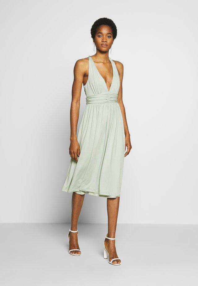 CROSS BACK DRAPY DRESS - Cocktailkleid/festliches Kleid - mint