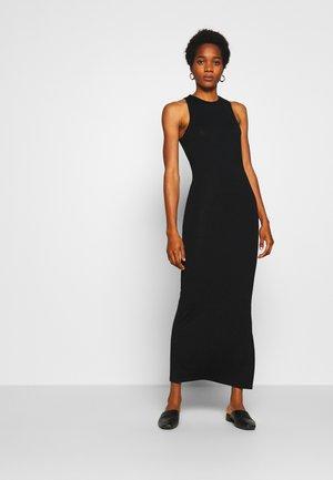 SPORTY CUT DRESS - Vestito di maglina - black