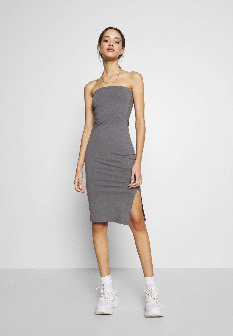 Nly by Nelly - OFF DUTY TUBE DRESS - Etuikjole - gray