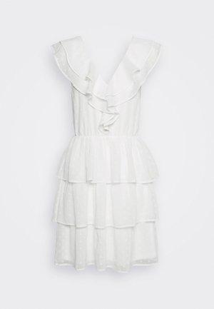 SHEER FRILL DOBBY DRESS - Vardagsklänning - white