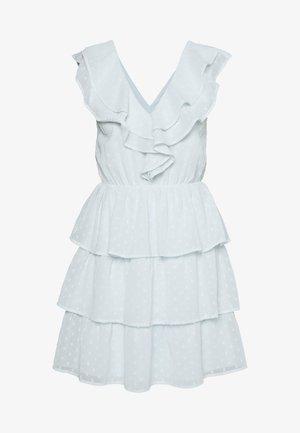 SHEER FRILL DOBBY DRESS - Koktejlové šaty/ šaty na párty - dusty blue