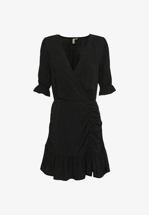 FLIRTY RUCHED DRESS - Vapaa-ajan mekko - black