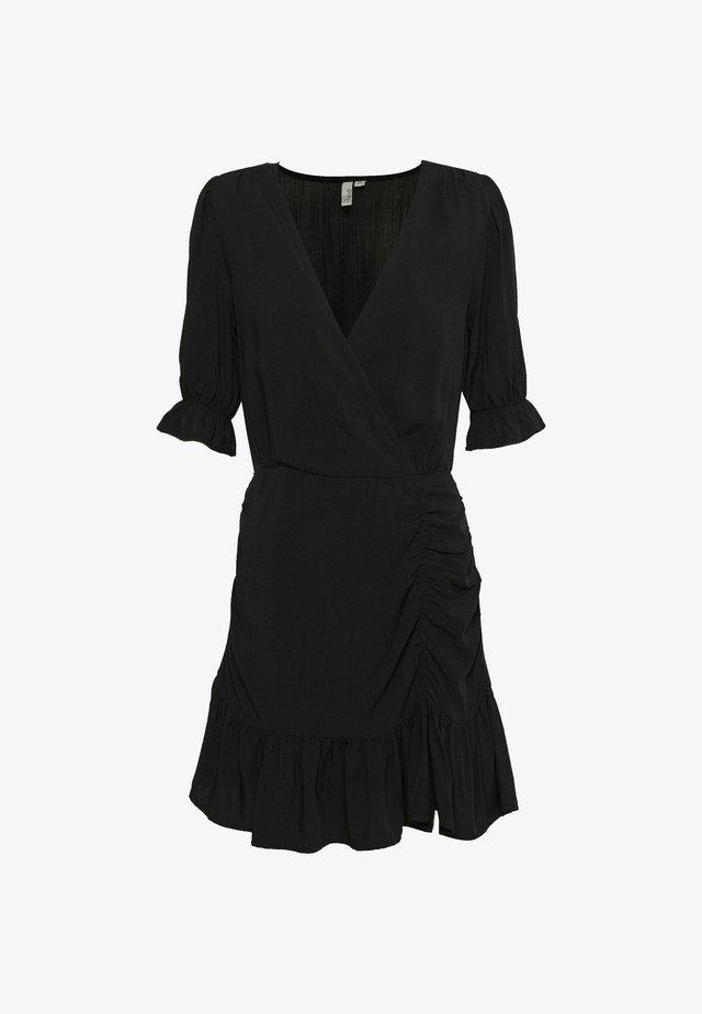 FLIRTY RUCHED DRESS - Day dress - black