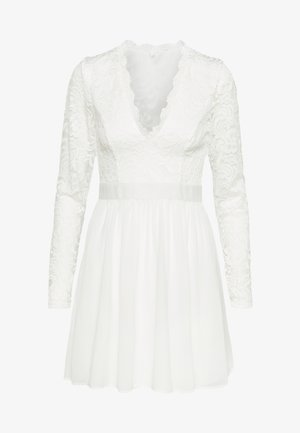 SCALLOPED PROM DRESS - Cocktailklänning - white