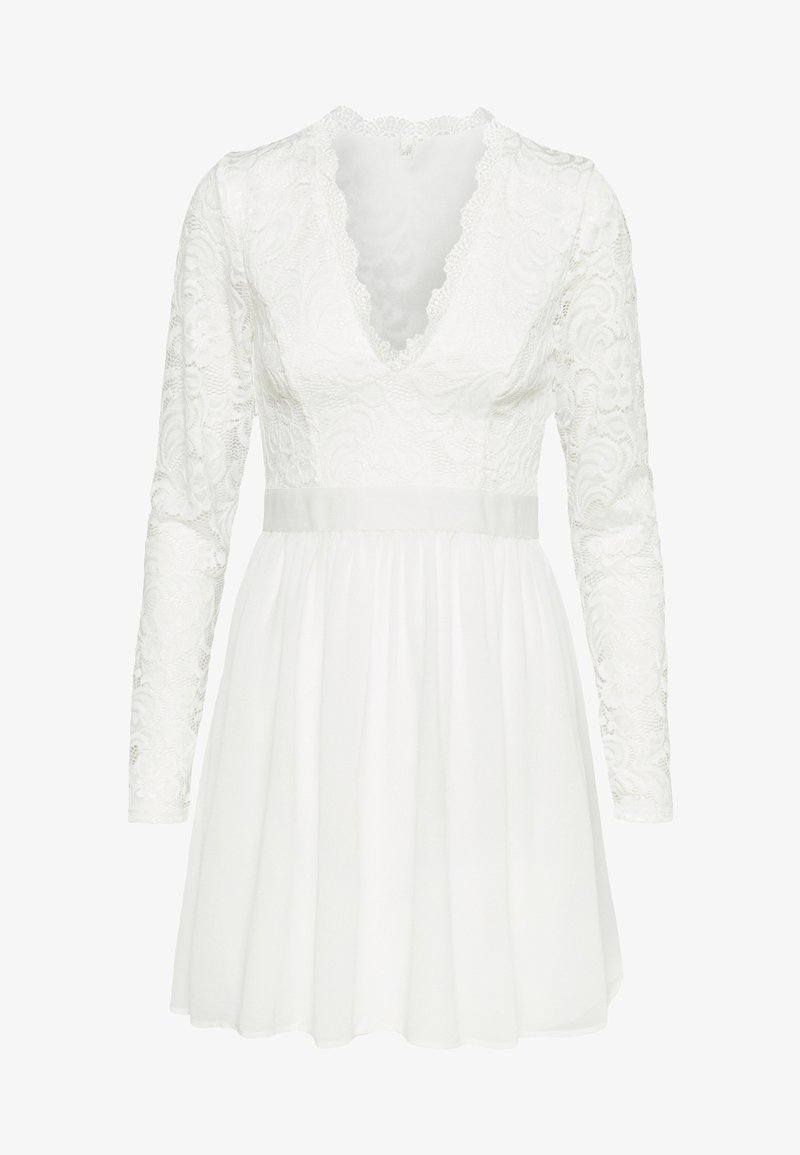 Nly by Nelly - SCALLOPED PROM DRESS - Cocktailklänning - white