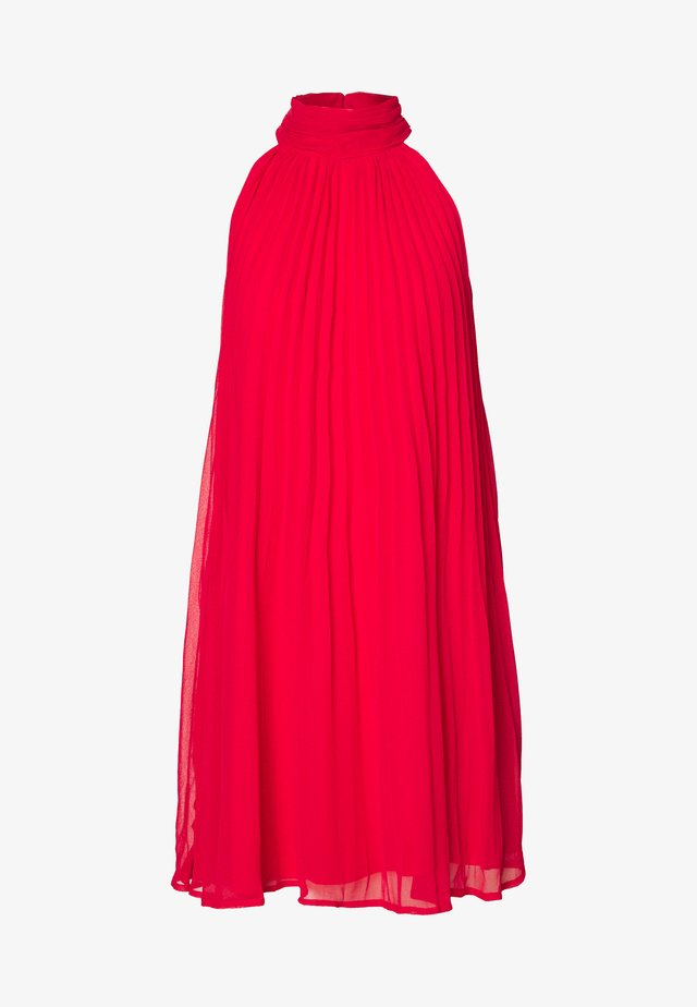 FLOWY PLEATED DRESS - Cocktail dress / Party dress - red