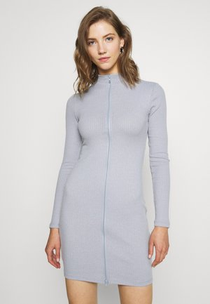 DOUBLE ZIP DRESS - Vestido de tubo - grey