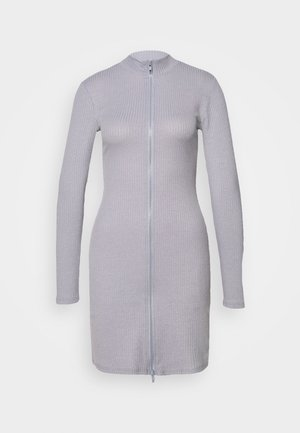 DOUBLE ZIP DRESS - Pouzdrové šaty - grey