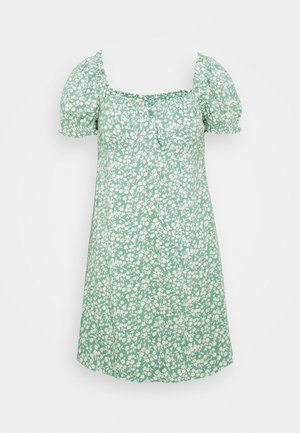 FLIRTY BUTTON DRESS - Vestito estivo - light green