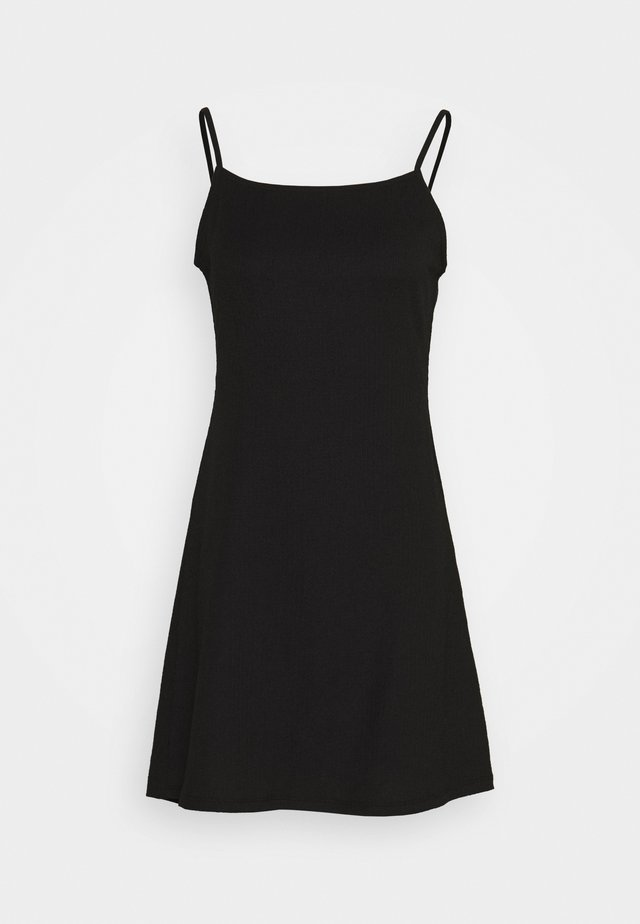 CROSSED BACK DRESS - Korte jurk - black