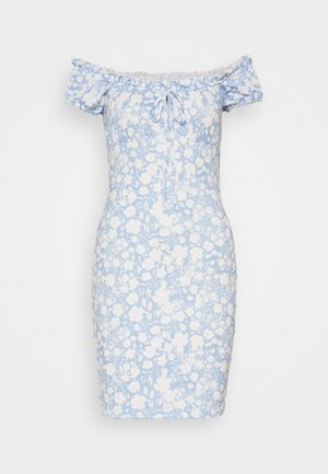 FRILL TIE DRESS - Etuikjole - light blue
