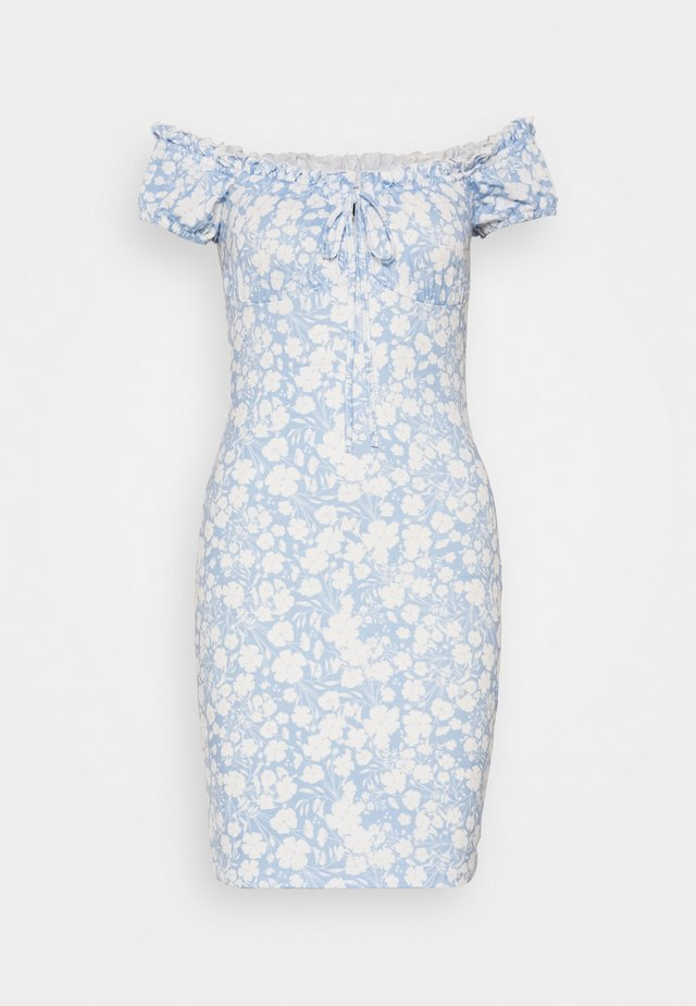 FRILL TIE DRESS - Fodralklänning - light blue