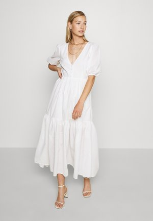 FLOWY BUTTON DRESS - Maksimekko - white