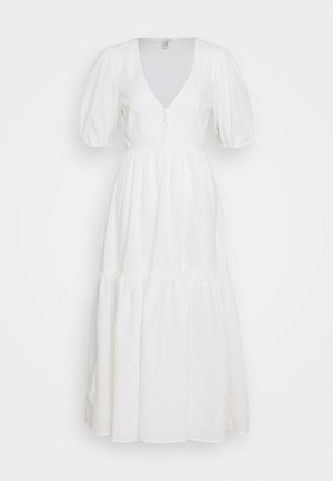 FLOWY BUTTON DRESS - Maxikjole - white