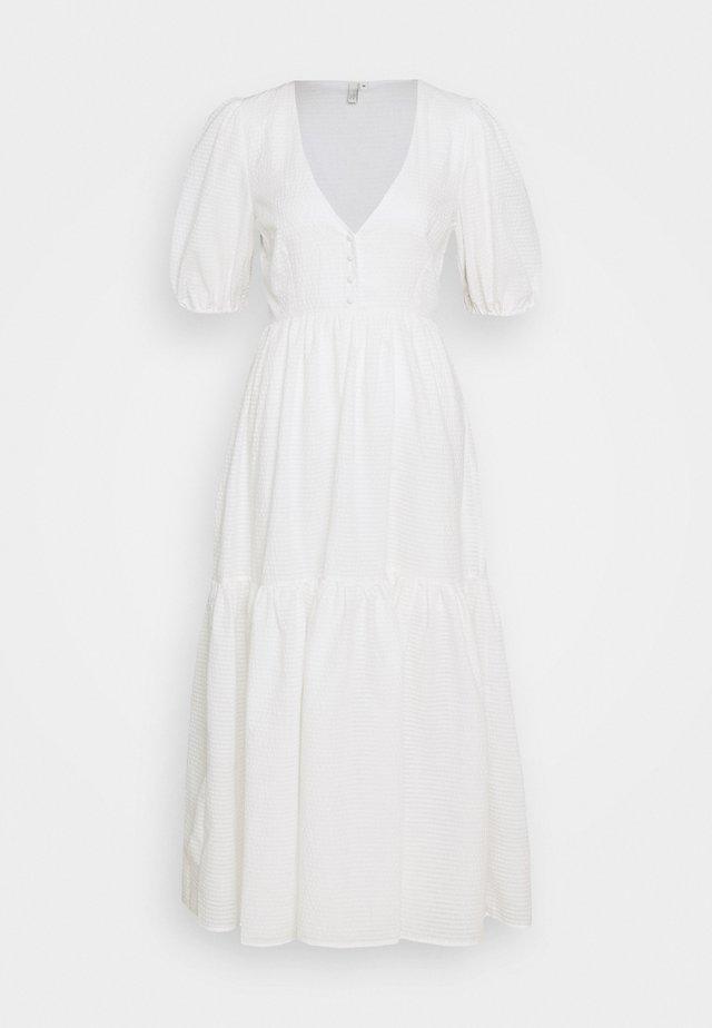 FLOWY BUTTON DRESS - Day dress - white